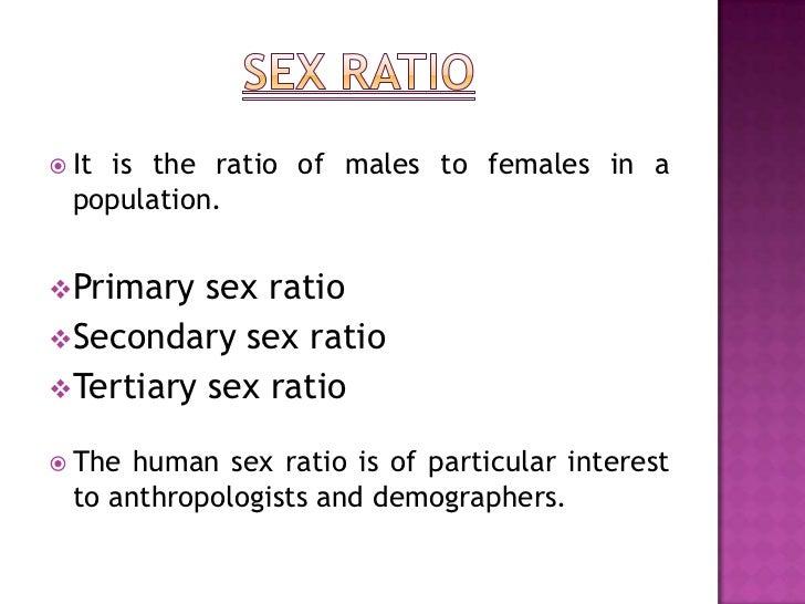 Calculate Sex Ratio 102