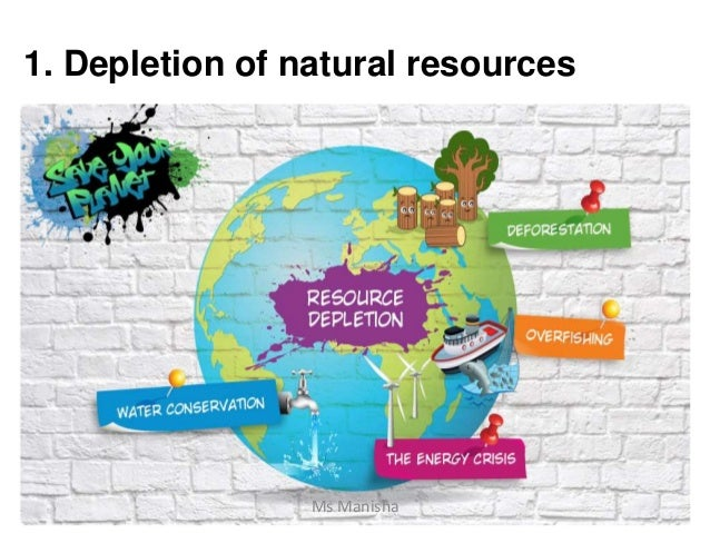 1. Depletion of natural resources Ms Manisha