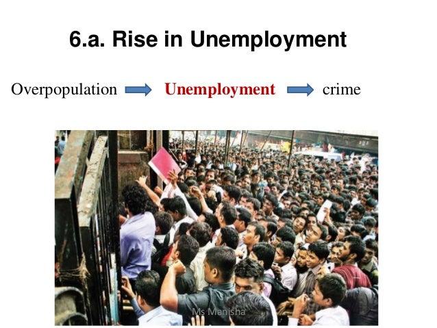 6.a. Rise in Unemployment Overpopulation Unemployment crime Ms Manisha
