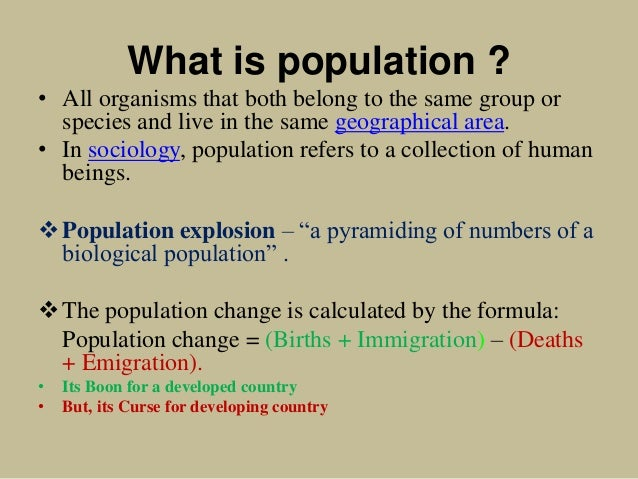 Population sociology