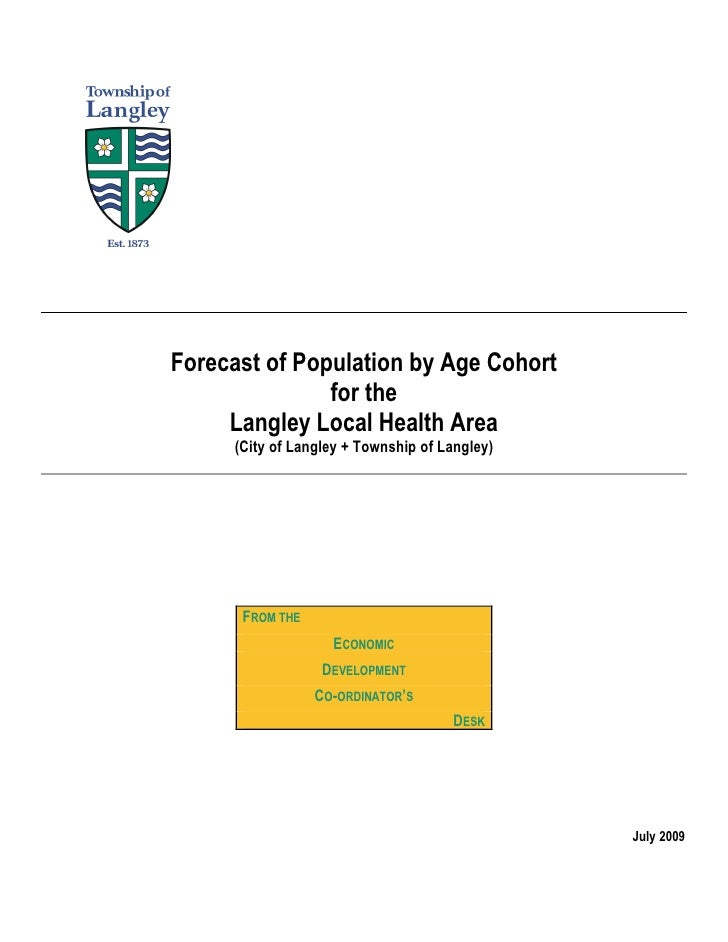 Forecast of Population by Age Cohort                for the      Langley Local Health Area      (City of Langley + Townshi...