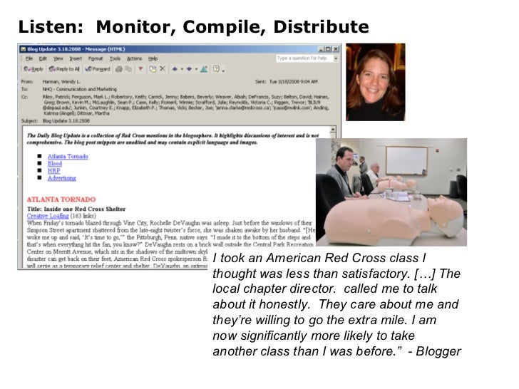Listen:  Monitor, Compile, Distribute I took an American Red Cross class I thought was less than satisfactory. […] The loc...