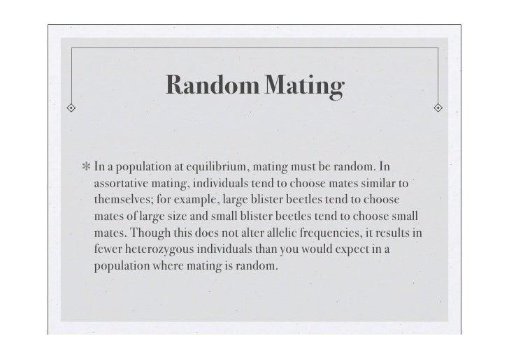 Random Mating