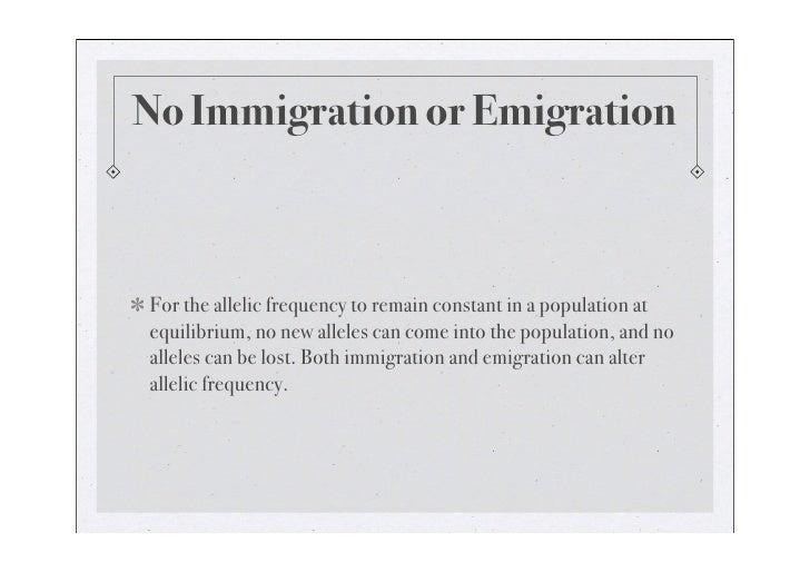 No Migration or Emigration