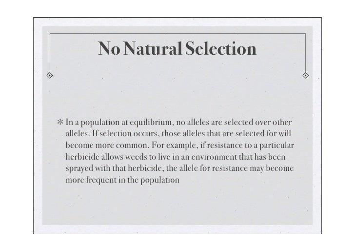 No natural selection