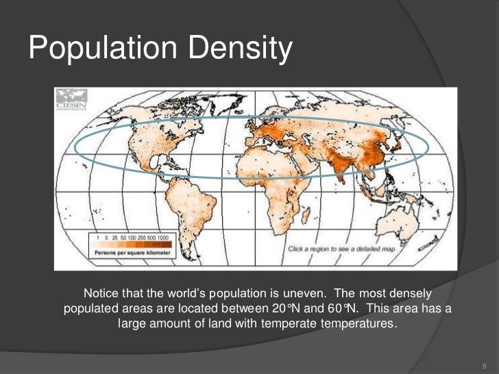 Elevation Wood Density : Population geography vocabulary