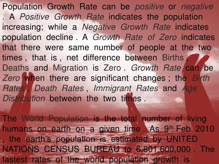 essay of population growth