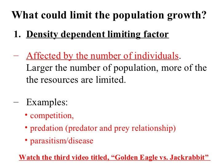 Pics For > Density Dependent Limiting Factors