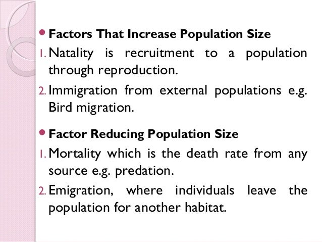 what are the factors of population growth