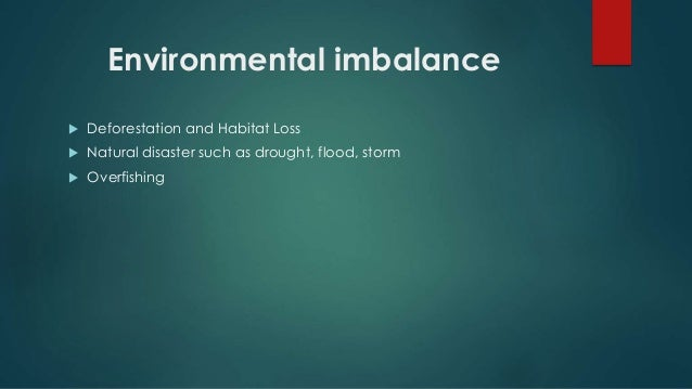 Man and ecological imbalance