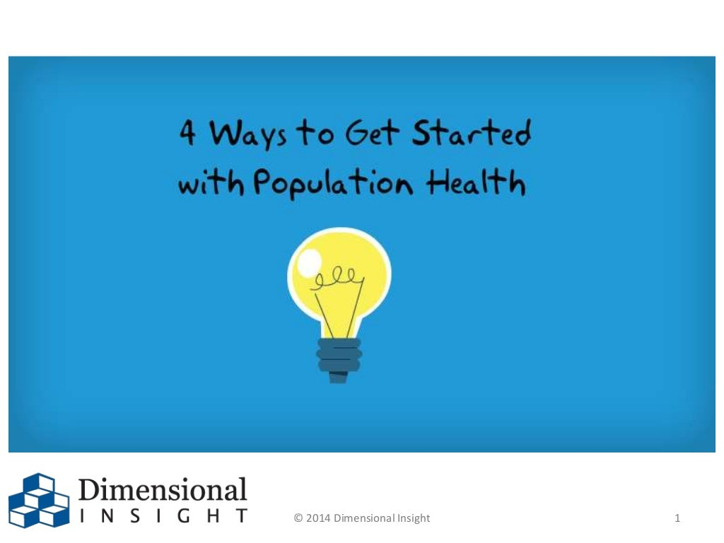4 Ways to Get Started with Population Health