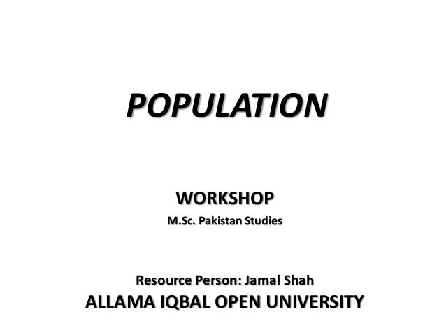 Population in Pakistan by Jamshah Slide 2