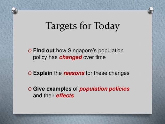 singapore population policies The english name of singapore is an anglicisation of the native malay name for the country, singapura, which was in turn derived from sanskrit (सिंहपुर.