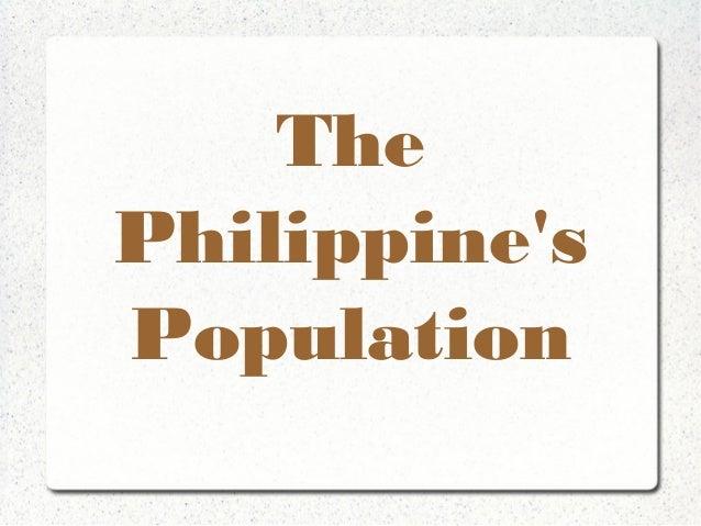 The Philippine's Population