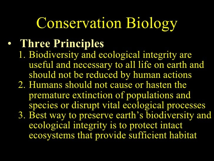 conservation principles Library and archives canada cataloguing in publication data main entry under title: ecological concepts, principles and applications to conservation.