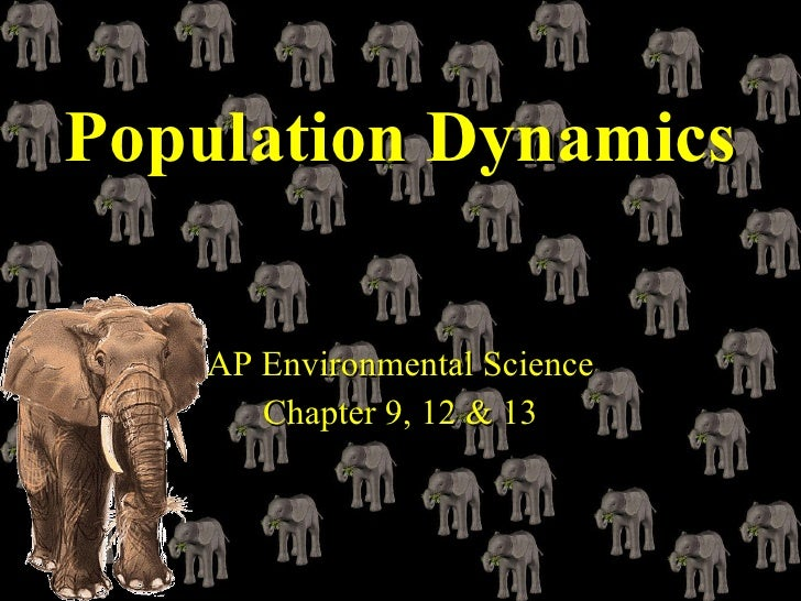 Population Dynamics   AP Environmental Science Chapter 9, 12 & 13