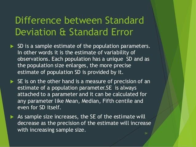 relationship between standard deviation and error of measurement
