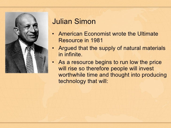 Image result for julian simon view on population