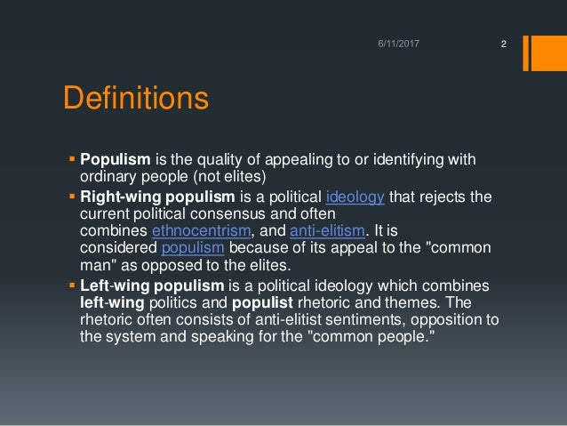 Right-Wing Populism in Europe and the United States Slide 2