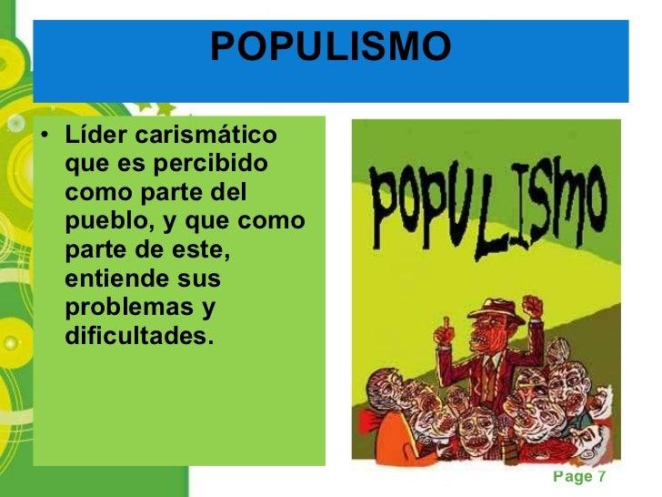Bildergebnis für populismo definicion corta