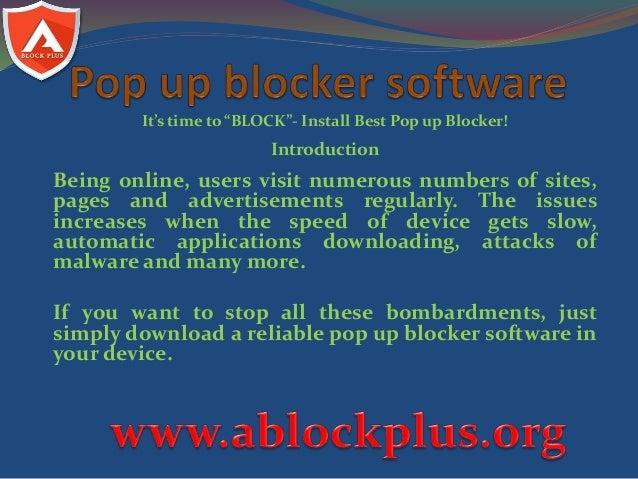 Pop up blocking software free download.