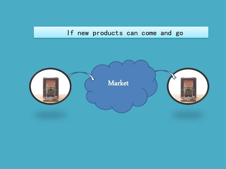 If new products can come and go           Market