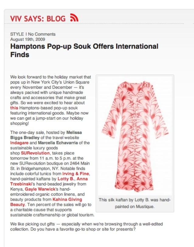 Hamptons Pop-Up Souk Offers International Finds