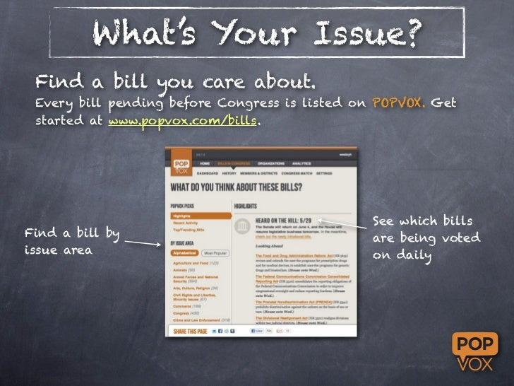 Using POPVOX to contact Congress Slide 2