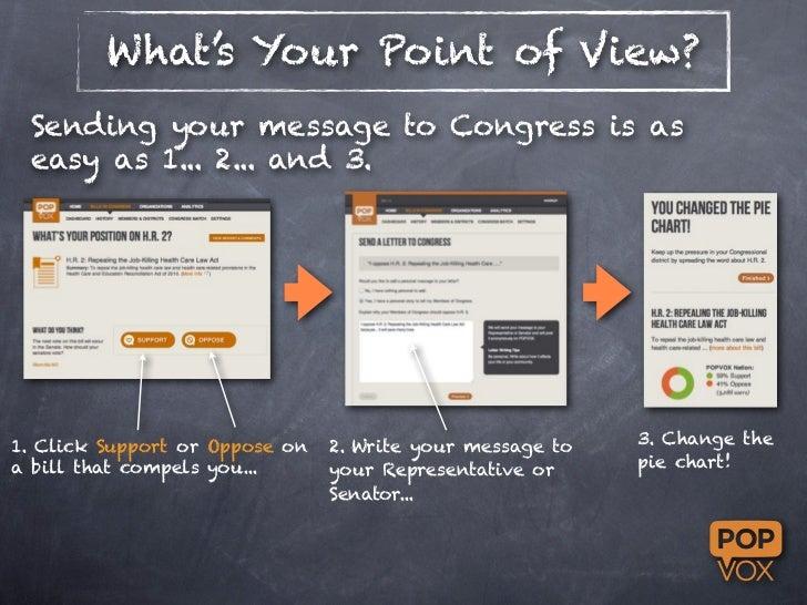 Using POPVOX to contact Congress Slide 3