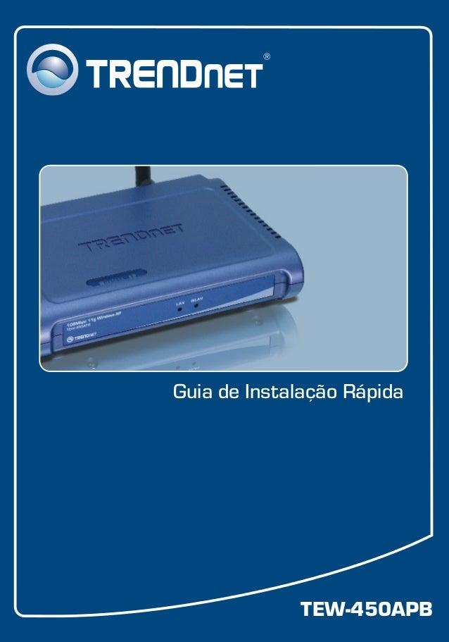 TEW-450APB Guia de Instalação Rápida