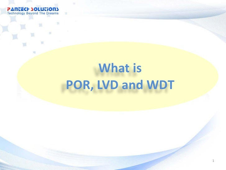 What isPOR, LVD and WDT                   1