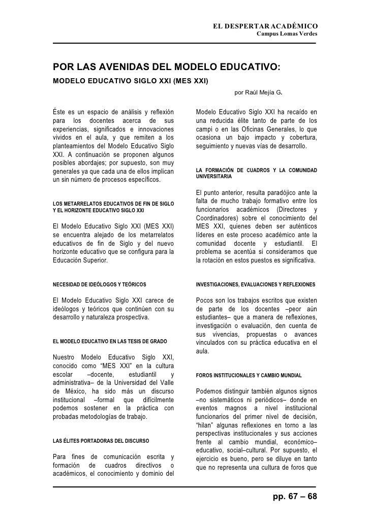 EL DESPERTAR ACADÉMICO                                                                       Campus Lomas Verdes     POR L...