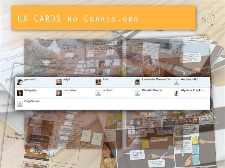 UX CARDS no Corais.org