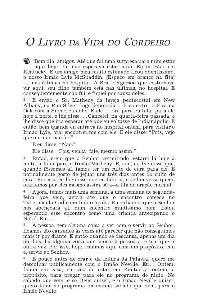 O LIVRO DA VIDA DO CORDEIRO 1 O Livro da Vida do Cordeiro ` Bom dia, amigos. Até que foi uma surpresa para mim estar aqui ...