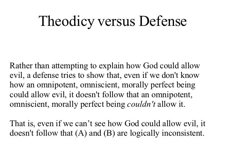 an examination of the existence of a morally perfect omniscient omnipotent being However, a being that is perfectly free would have no such external factors preventing it from doing evil considerations so far suggest the possibility of a being that is omnipotent, omniscient, free and perfectly evil that is, they suggest the possibility of hypothesis h 2 mentioned above.