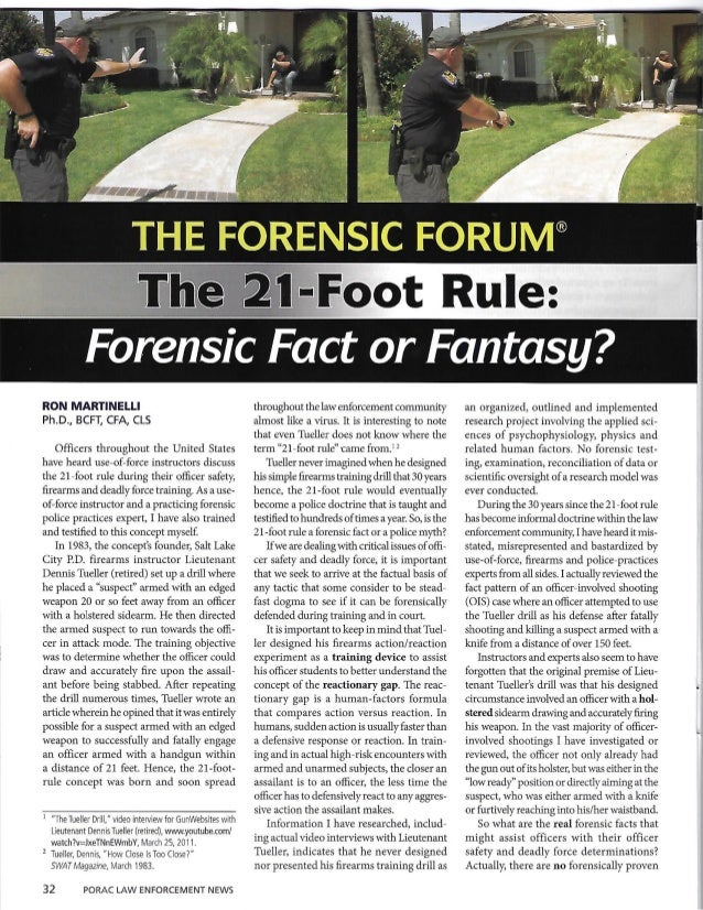 F0 ensic Fact or Fantasy?   RON MARTINELLI Ph. D.,  BCFT,  CFA,  CLS  Officers throughout the United States have heard use...