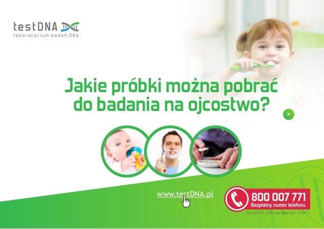www.testDNA.pl Jakie próbki można pobrać do badania na ojcostwo?