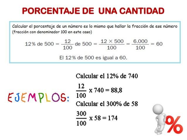 Resultado de imagen de el porcentaje de un numero