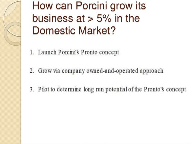 porcini s pronto final View homework help - porcini case questionsdocx from gsba 520 at usc  case questions: porcinis pronto case 1) how has porcinis maintained high.