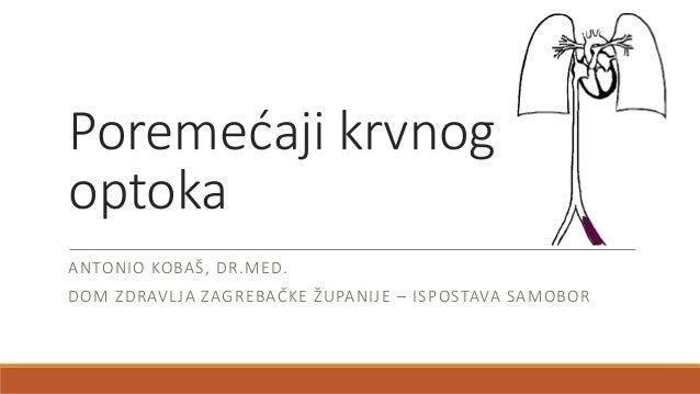 Poremećaji krvnog optoka ANTONIO KOBAŠ, DR.MED. DOM ZDRAVLJA ZAGREBAČKE ŽUPANIJE – ISPOSTAVA SAMOBOR