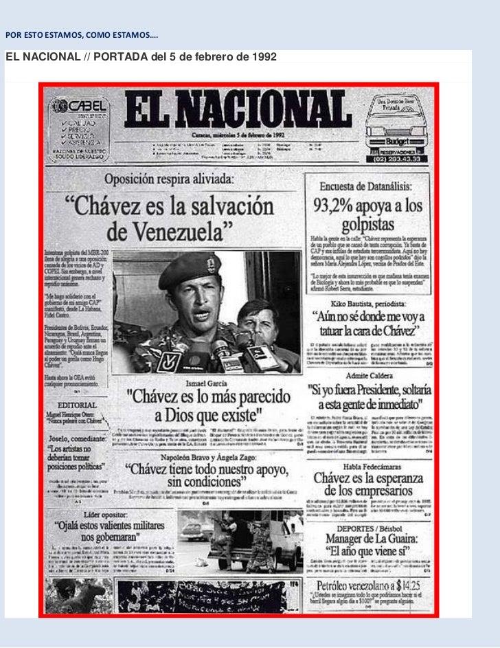 POR ESTO ESTAMOS, COMO ESTAMOS….<br />EL NACIONAL // PORTADA del 5 de febrero de 1992 <br />EL NACIONAL // PORTADA del 5 d...