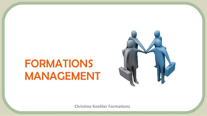 FORMATIONS MANAGEMENT Christine Koehler Formations