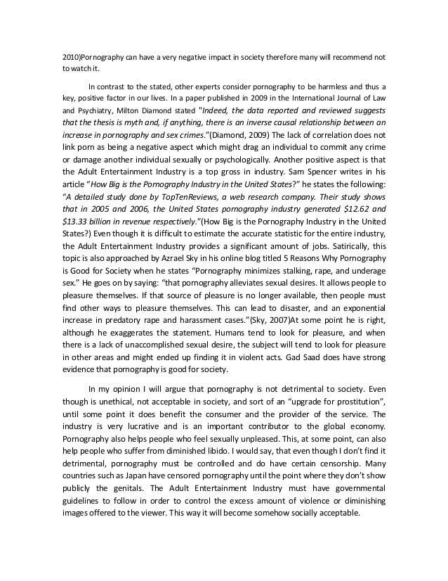 pornography essay  dines jeremy 2 2010 pornography