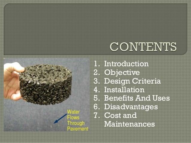 porous asphalt pavement  stormwater management