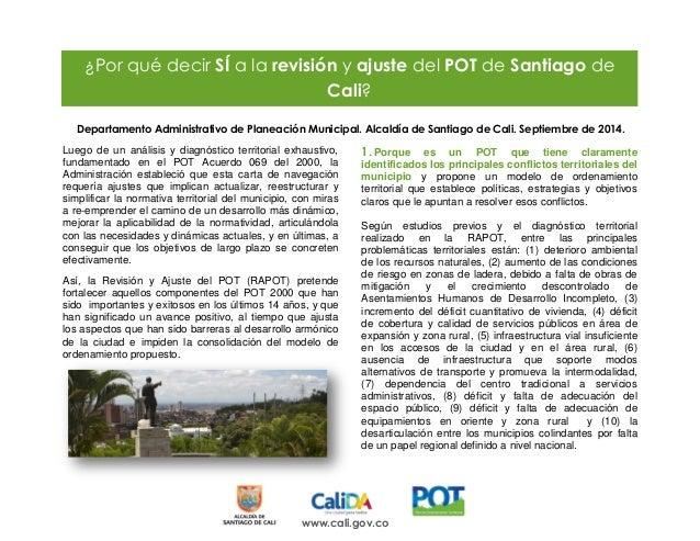 www.cali.gov.co  Departamento Administrativo de Planeación Municipal. Alcaldía de Santiago de Cali. Septiembre de 2014.  L...