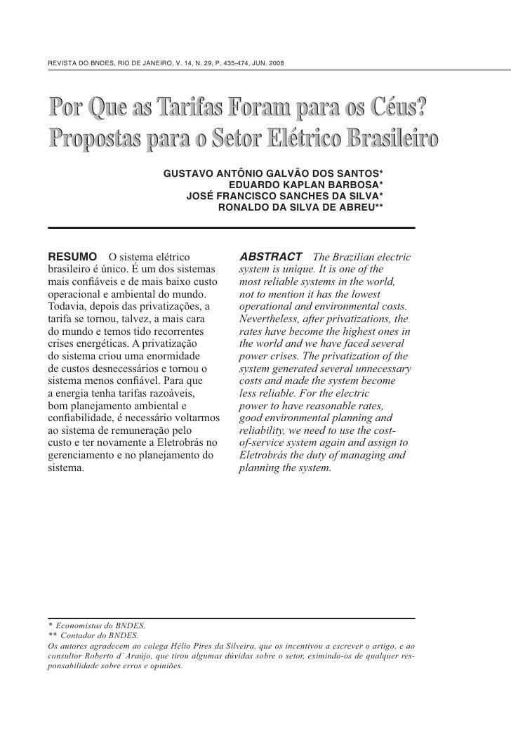 REVISTA DO BNDES, RIO DE JANEIRO, V. 14, N. 29, P. 435-474, JUN. 2008                                      GUSTAVO ANTÔNIO...