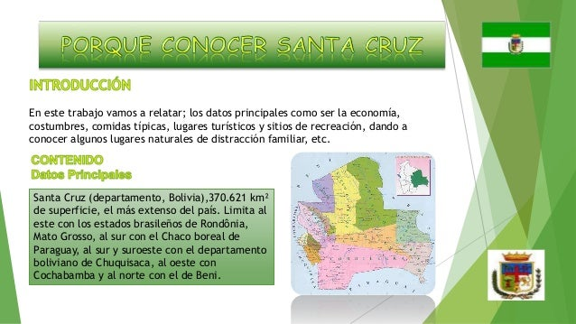 En este trabajo vamos a relatar; los datos principales como ser la economía, costumbres, comidas típicas, lugares turístic...