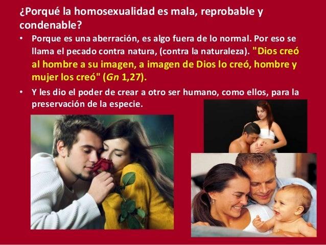 Porque es malo el homosexualismo