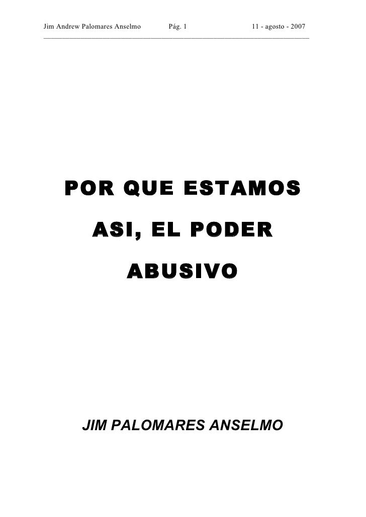 Jim Andrew Palomares Anselmo      Pág. 1                11 - agosto - 2007 _______________________________________________...