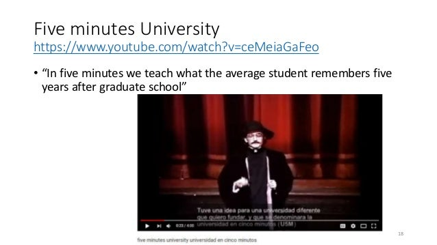 """Five minutes University https://www.youtube.com/watch?v=ceMeiaGaFeo • """"In five minutes we teach what the average student r..."""